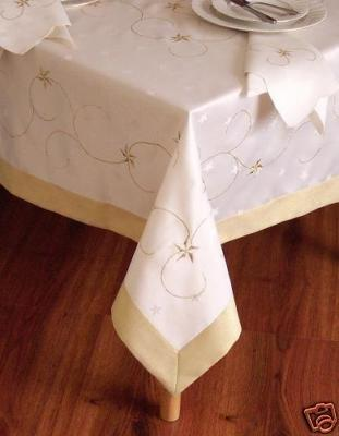 Special Christmas Gold Star Table Cloth/Table Cover 64 Round