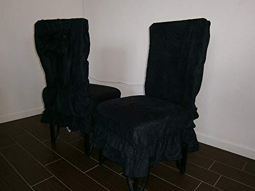 Octorose  Soft Micro Suede Shortly Dining Chair Covers (Black)