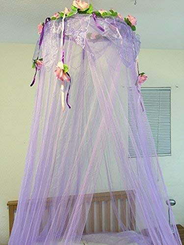 OctoRose Flower Top Around Bed Canopy Mosquito Net for Bed, Dressing Room, Out Door Events