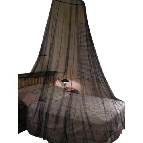 OctoRose Black Hoop Bed Canopy Mosquito Net Fit Crib, Twin, Full, Queen, King or Out Door