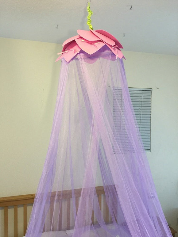 Octorose  ® Lotus Leaf Top Bed Canopy Mosquito Net for Bed, Dressing Room, Out Door Events
