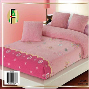 OctoRose Twin Pink Butterfly Super Soft Pink Plush/Micro Fiber Reverse Blanket Bedspread Coverlet