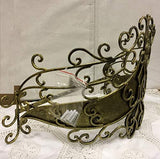 Octorose Metal Wall Teester Bed Canopy Drapery Bed Crown Hardware (Tiara-Gold)