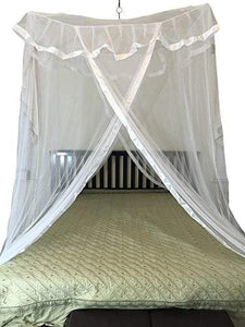 OctoRose Poles Cross Top Hanging Bed Canopy Play Tent Functional Mosquito Insect Netting fit Twin, Full, Queen, King and Cal King Bed 39x78 on Top, 393 on The Bottom