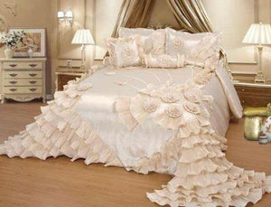 Octorose Royalty Oversize Wedding Bedding Bedspread Comforter Quilts Set (King/Calking(120x110))