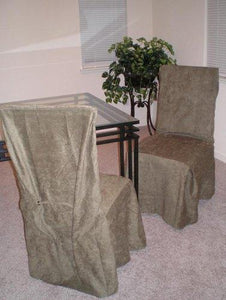 6pcs Micro Suede Dining Chair Covers Slipcovers - Olive Green