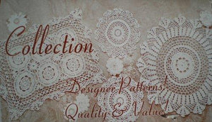 6pc 100% Cotton Handmade Crochet Table Placemats White 12x18""