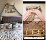 "Octorose Metal Wall Teester Bed Canopy Drapery Crown Hardware (Bronze(31.5"" Wx14 Dx9.5 H))"