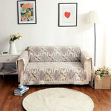 Ofit Quality Grey Chenille with Cotton Lace Sofa Throw Slipcovers Furniture Protector (loveseat)