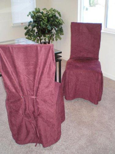 Micro Suede Dining Chair Slipcovers - Wine