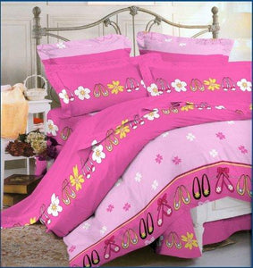 OctoRose 100% Cotton Duvet Covers with Pillow Case Set Pink - Twin