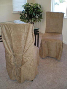 Micro Suede Dining Chair Slipcovers - Brown
