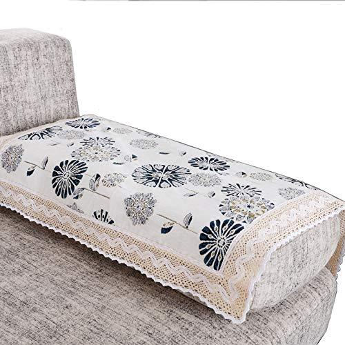 OctoRose New and Improved Anti-Slip Grip Sofa and Couch Protector, Sectional Sofa Cover, Removable and Adjustable Strap Under The Sofa Cushion (Sage-Stripe, SofaArm-24x24-S2)