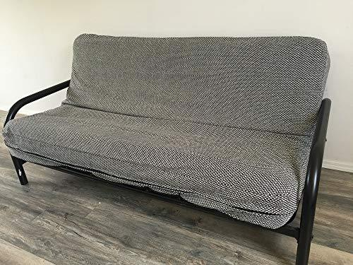 OctoRose Two Tone Flip Over 3 Side Zipper Futon Cover/Futon slipcover/Futon Protector (Linen-Grey, Twin(39x75+8