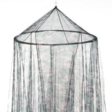 OctoRose Round Hoop Bed Canopy Mosquito Net in Large Size Elegant Curtains Screen Netting fit Crib Twin, Full, Queen, King or Cal king size bed