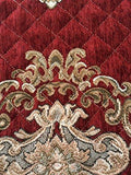 OctoRose Ofit Chenille Customised Quilted Sectional Sofa Throw Pads Furniture Protector Sold by Piece Rather Than Set (Wine, 35x94)