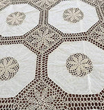 "OctoRose 100% Cotton Crocheted Lace Tablecloth Gorgeous Wedding/Party Tablecloth Vintage Dining Kitchen Table Runner or Placemats (14x20""-S4), or Cushion Case(18x18""-S2)"