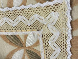 "Chenille with Cotton Lace Table Runner (Camel(gold), 15x90"")"