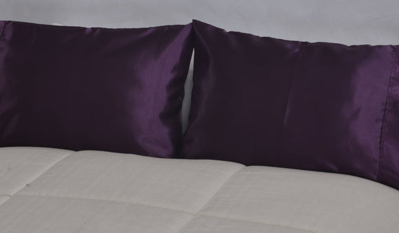 OctoRose Set of 2   Super Strong and Durable Pillow Case / Protector / Cover / Pillowcase Silky Satin Less Wrinkle Smooth Feeling