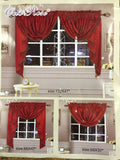 "OctoRose  5 pcs Royalty Custom Waterfall Window Valance and Swags & Tails Fit Max Wide Upto 150"" Window"