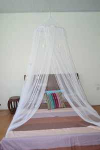OctoRose Large Hoop Daisies Bed Canopy Mosquito Net Elegant Screen Netting fit Crib Twin, Full, Queen, King or Cal king size Bed