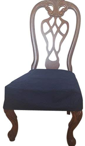 OctoRose Classic Micro Suede Set of 2 Chair Covers Chair Seat Covers  Chair Protector
