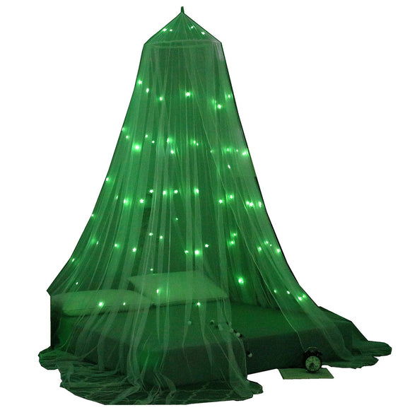 OctoRose Glow in The Dark Butterfly or Star Bed Canopy Mosquito Net Fits Crib,Twin, Full, Queen, King and Calking. 23