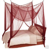 OctoRose 4 Poster Mosquito NET, Four Post Bed Canopy Elegant Screen Netting Canopy Curtains, Full Queen King