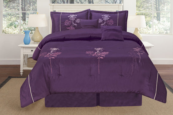 OctoRose 3pcs Brand New Luxurious Bamboo nod Material with Embroidery Duvet Cover Set