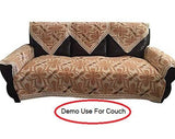 OctoRose Bonded Micro Suede Brown Color Sofa couch Sofa Sleeper Cover with Anti-slip Grid (TM) backing and buckle tight