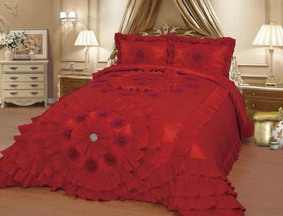 OctoRose Royalty Oversize Wedding Birthday  Bedding Bedspread Comforter Set