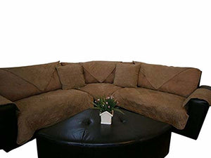 OctoRose Water proof Micro Suede Improved Noni-Slip Sofa and Couch Protector, Sectional Sofa Cover, Removable and Adjustable Strap Under The Sofa Cushion, Sold Piece By Piece NOT whole Set