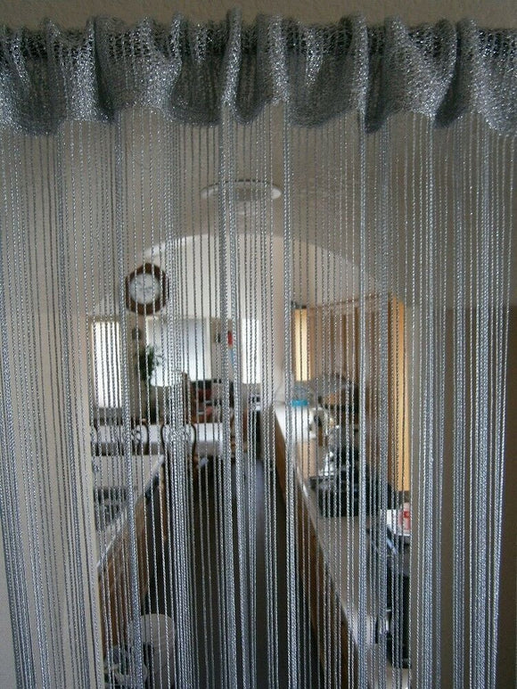 Metallic String curtain door curtain room divider