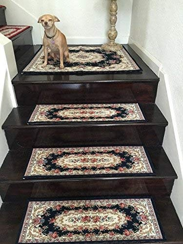 Acrylic Non-Slip Stair Runner Rug Stair Treads Cover Size (Set of 2 Stair Runner-26x75cm, 10x30 inch, )