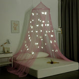 "OctoRose Glow in The Dark Butterfly or Star Bed Canopy Mosquito Net Fits Crib,Twin, Full, Queen, King and Calking. 23""x98""x472""(inch)"