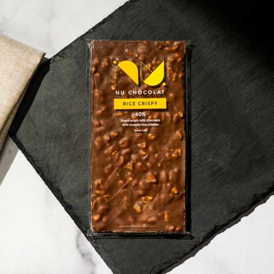 Crispy Rice - Milk Chocolate Bar | NU Chocolat