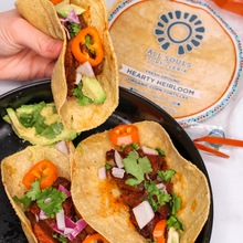 Load image into Gallery viewer, 8 Pack of Heirloom Organic Corn Tortillas | All Souls Tortilleria