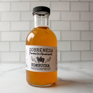 12 oz Passion Fruit Kombucha | Sobremesa