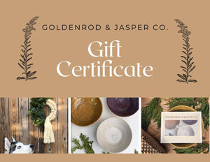 Goldenrod & Jasper Co. | Clay and Fiber Home Goods