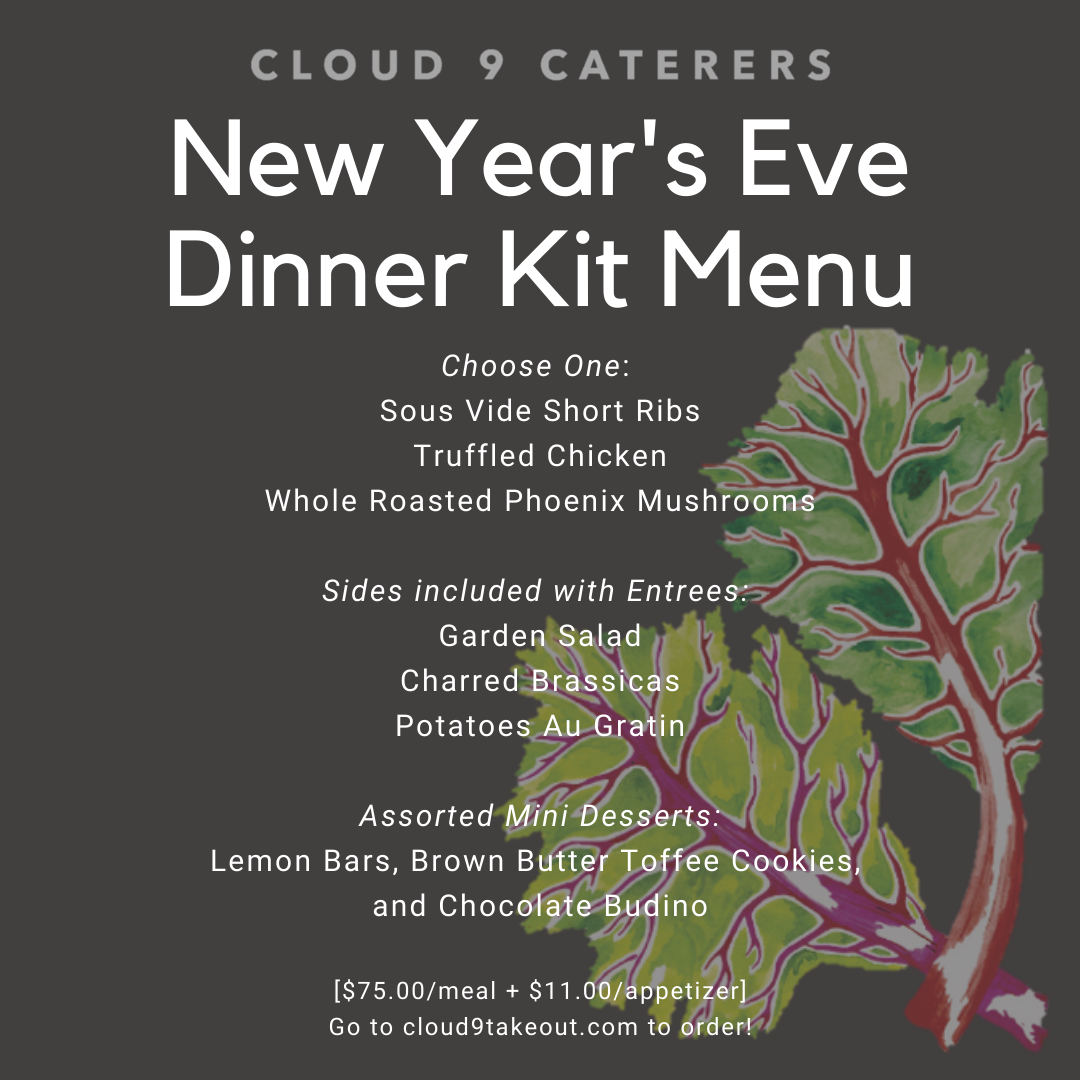 New Year's Eve 3 Course Dinner Kit (One Meal) | Cloud 9 Caterers