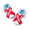 England Baby Shoes Grey / Red