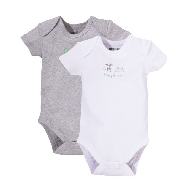 Lupilu Short Sleeve Bodysuit Pack x2
