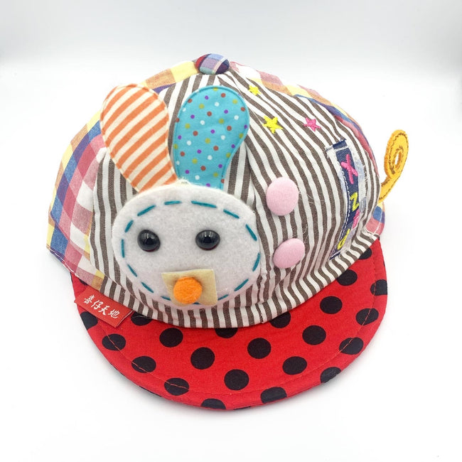 Little Bunny Cap Dotted Red/ Black