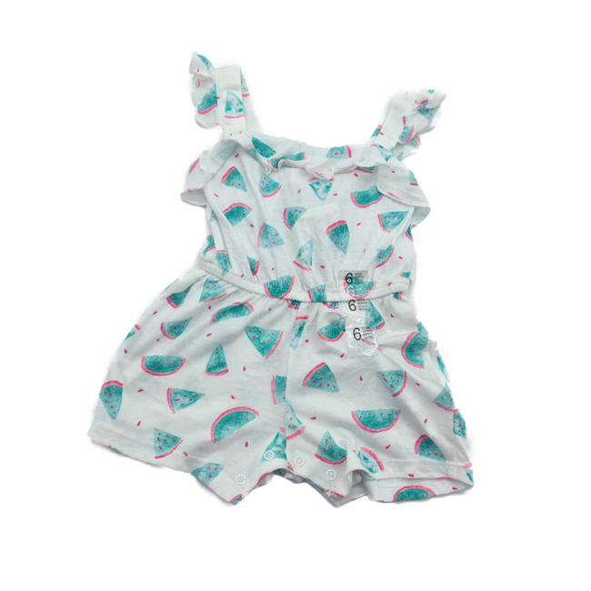 Z-Generation White WaterMelon Bodysuit  6M