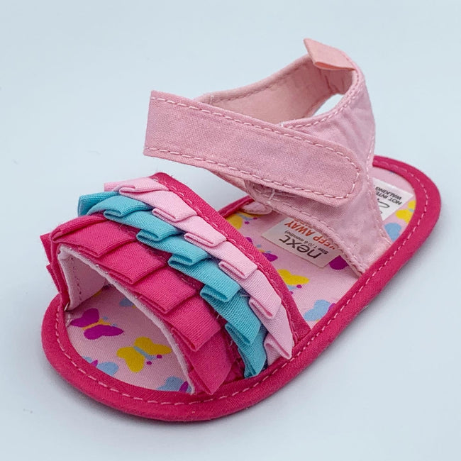 Beautiful Baby Summer Shoes Newborn Girl First Walkers Soft Bottom