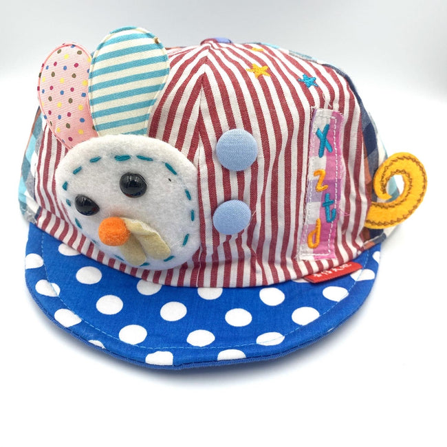Little Bunny Cap Dotted Blue / White
