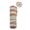 Burt's Bees Baby Blanket 100% Organic Cotton Swaddle & Stroller Striped Rose/ White