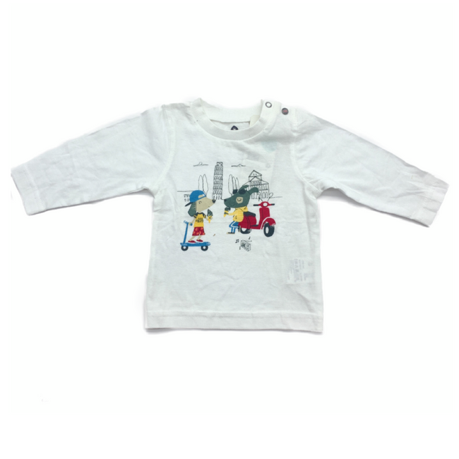 Z-Generation White Long Sleeve T-Shirt 3M