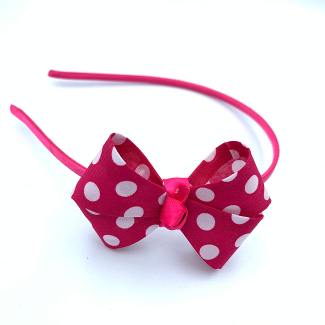 Dotted Bow Tie Hair Band