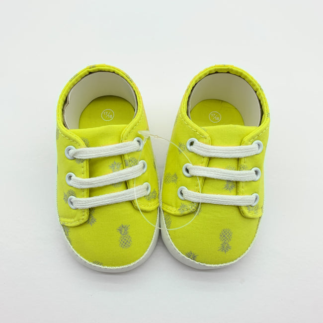 Yellow Baby Pineapple Shoes 6-9M